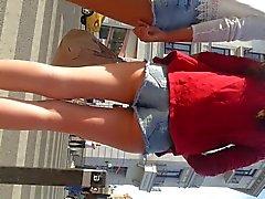 шпион сексуальных девушек попка Шорты Для джинсовую румынский