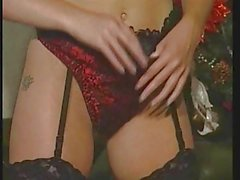 British slut in an early Christmas solo scene