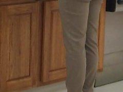 Candid sexy high heels