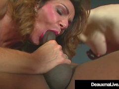 Horny Cougars Deauxma & Nina Hartley Fuck & Suck Black Cock!