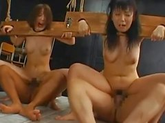 Dirty milfs nailed in rough porn