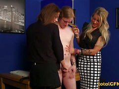 Cfnm Scene With Guy Getting a Double Bj
