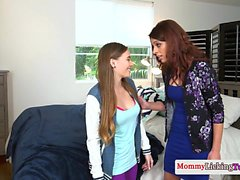 Glam MILF queens naughty stepdaughter