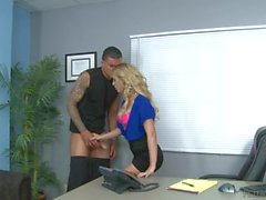 Cherie De Ville Office Hard Fuck