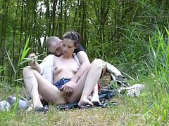Hot German GF Public bang at Forest Outdoor Jess
