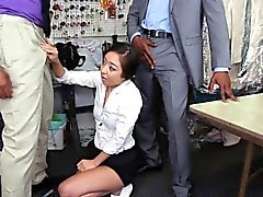Petite asian amateur cocksucking BBC in trio