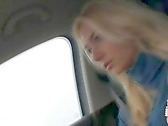 A total loser fucks hitchhiking blonde Victoria