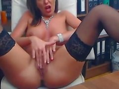 Masturbation flash cam in the office