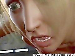 Estrangeiro Fode garota peituda 3D!