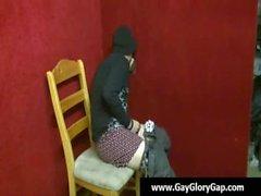 Gays masturbaciones gloryhole Gau y los eyaculaciones faciales 02