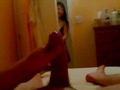 Flashing asian massage lady