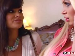 Busty Blonde Nikki Benz and Dirty Milf Lisa Ann in Threesome Porn