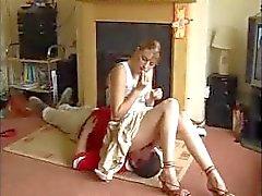 Skirt facesitting