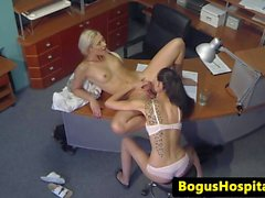 Lesbian patient pussylicking euro nurse