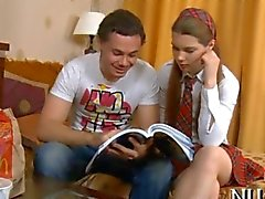Passionate sexy teen slammed by her tutor