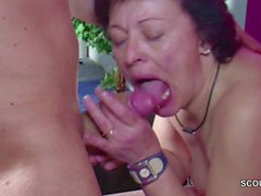 German Step-son Caught Mom Masturbate and Seduce to Fuck