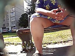 Amateur bbw kinx upskirt masturbation in a bar and outdoor 5