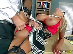 Big titted MILF boss Nina Elle needs dick badly