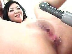 Kinky Asian lady gets nailed with sex toys and reveals her
