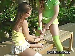 Two horny girls fucking around with each part2