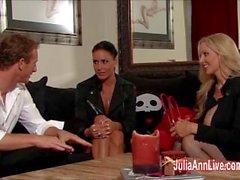 Julia Ann & Jessica stanno legato, imbavagliato , e scopare !