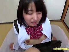 Milf in school girl uniform does pov