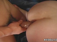 Cock brings tears to her eyes during their bdsm session