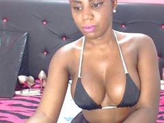 Sexy Ebony in pantyhose Web cam