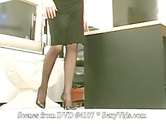 Solo Babe takes a ride on the Sybian & does spread poses as Secreta