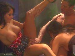 Groß Gruppen-Sex bei Alektra Blue und Jessica Drake