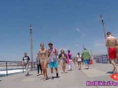 Tanned Bikini Thong Hot Bodies Teens SPied Hidden cam beach