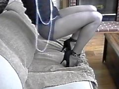 Crossdresser Leg Show by Diana