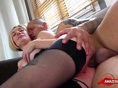 Natural tits amateur hardcore with cumshot