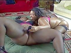 cena lesbien grande ébano
