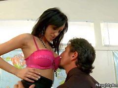 Naughty secretary Breanne uses her boss