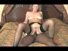 Interracial Gangbang Session With Horny Milf