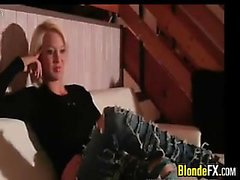 Blonde Girl In Ripped Jeans Fucking