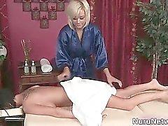 Hot blonde babe gets her hot brunette