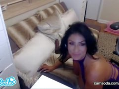 Raven Heart big ass big tits MILF masturbating at the office.