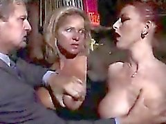 Two awesome milfs receive anal