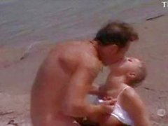 Seductive Woman Fucked Her Man On The Beach