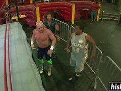 Amazing guys like to wrestle together