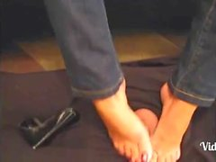 LadyB long toenail footjob