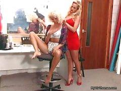 Nasty blonde babe rubbing part2
