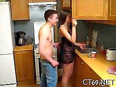 El impresionante sesión de maldito de la cocina
