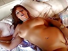 Horny brunette likes it deep in her ass.