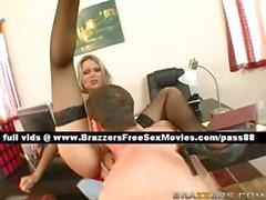 Amateur blonde slut on a desk