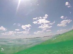 Huge CreamPie after POV Sex, Bikini Kayaking to outdoor public beach!