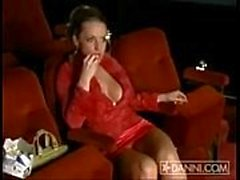 Danni Ashe at the movies