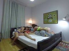 FULL Vercion Sleeping girl gets groped by horny lesbians